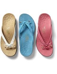 Vionic Bella - Womens Orthotic Thong Sandals White - 9.5 Medium