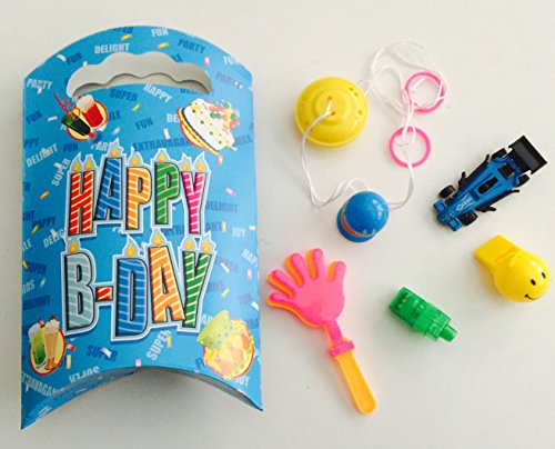 12x Pack Goody Bags Pre Made & Filled with Toys, Boys & Girls Goodie Bag, Filled Goody Bag / Loot Bag,yo yo; whizzers; disc shooters; cars; whistle; LED (Princess Filled Goody Bag)