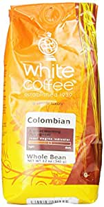 White Coffee Colombian (Whole Bean), 12 Ounce