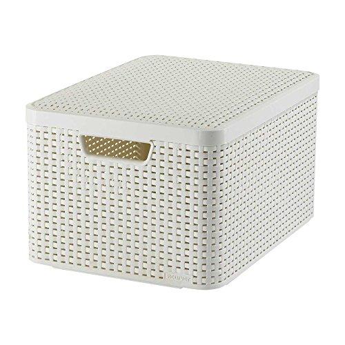 Curver 03619-885-00 Aufbewahrungsbox Style mit Deckel L, 30 L, creme