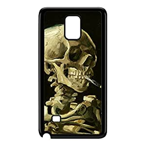 Head of a skeleton with a burning cigarette by Van Gogh Black Hard Plastic Case for Galaxy Note 4 by Painting Masterpieces + FREE Crystal Clear Screen Protector