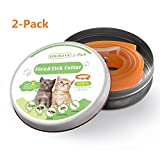 Waterproof Flea & Tick Collar For Cats - Kittens - Dogs & Pets By LOLOLITS Company | Powerful & Safe Ingredients For most Ages & Breeds | 6-Month - Unique & Protective Formula For Your Cat&Dogs (2-Pack)