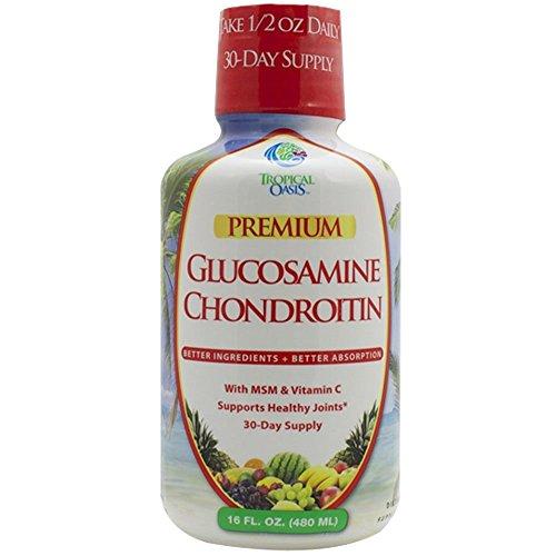 Tropical Oasis Liquid Glucosamine Chondroitin w/ MSM and Vitamin C for maximum absorption (16 oz) Liquid