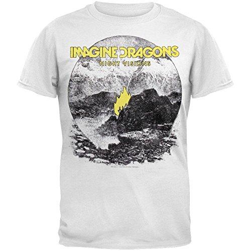 Bravado Men's Imagine Dragons T-Shirt,White,Large