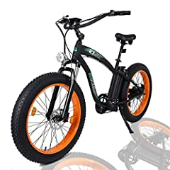 "This Model Of Electric Bicycle Is The Perfect Present For An Outdoor Type That Will Give You And Your Family Hours Of Great Riding In The Fresh Air. The 26"" Fat Bike Is A 48V Lithium Battery Powered Electric Bicycle, Running On A Watt Rear Hu..."