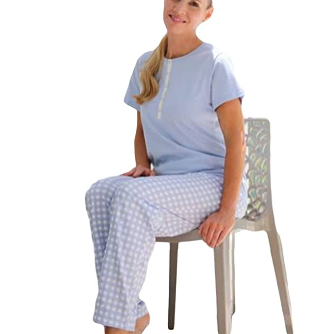 MARIE CLAIRE - Pijama Mujer Mujer Color: Celeste Talla: 42