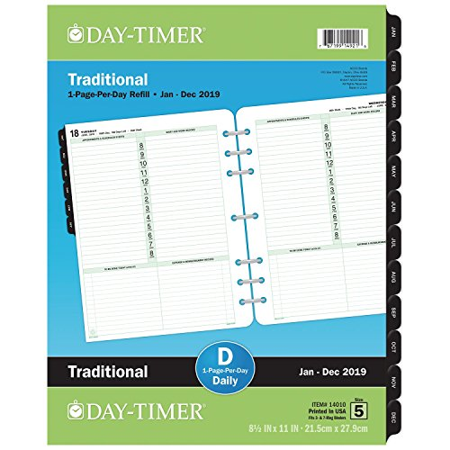 Day-Timer 2019 Planner Refill, 8-1/2