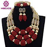 2017 fashion african coral beads jewelry set for nigerian wedding bridal jewellery dubai 18k gold accessories (1)
