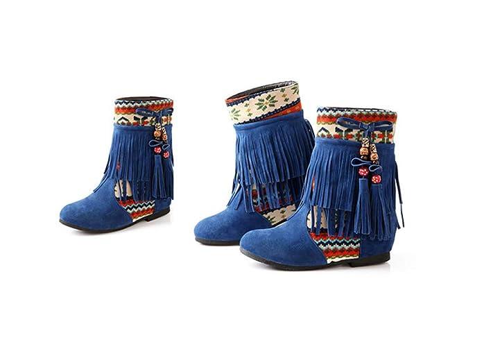 Botas Mujeres De Las Aumento Tubo Famosas Los Corto Zapatos Mate UOxwHqE