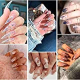 100% Pure Kolinsky Acrylic Nail Brush with 4 Pieces Nail Files For Acrylic Application Non-Forked,Long Keep Hold Shape, Smooth and Soft Quality Mink hair, Easy-to-Clean Wooden