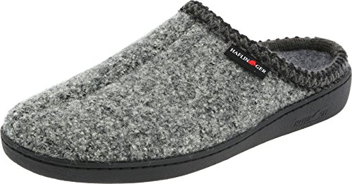 Haflinger AT Classic Hardsole Slipper, Grey Speckle, 39 EU (Women's 8 M Men's 6 D US)