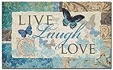Counter Art Anti Fatigue Floor Mat, Live-Laugh-Love Butterfly
