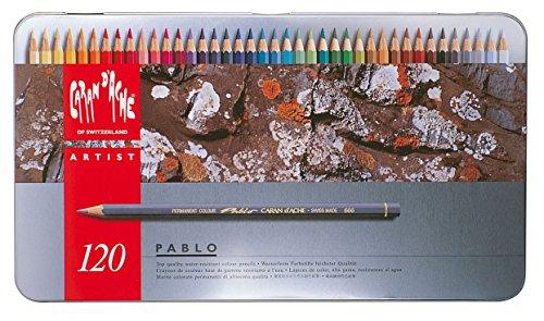 Lápis de Cor Profissional Caran d'Ache Pablo 120 Cores