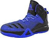 Adidas Men's DT Bball Mid Blue/Core Black Collegiate Royal Ankle-High Fabric Basketball Shoe - 9.5M