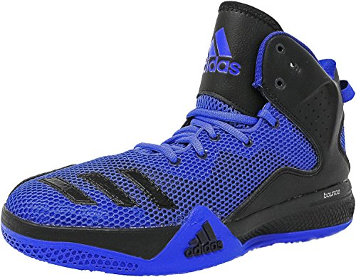 Adidas Men's DT Bball Mid Blue/Core Black Collegiate Royal Ankle-High Fabric Basketball Shoe - 10M