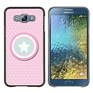 Dragon Case - FOR Samsung Galaxy E7 E7000 - captain polka dot America shield star - Caja protectora de pl??stico duro de la cubierta Dise?¡Ào Slim Fit