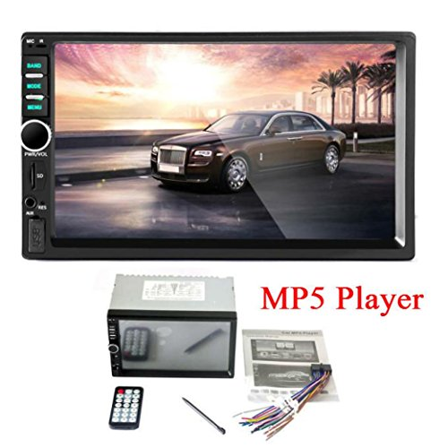 Vehicle MP5 player with Black7inc Touch Screen Bluetooth Car Stereo Audio In-Dash Aux Input Receiver SD/USB MP5 Player (Black) ()