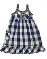 YOUNGLAND Girl's Size 6X Blue White Checkered Sundress, Dress