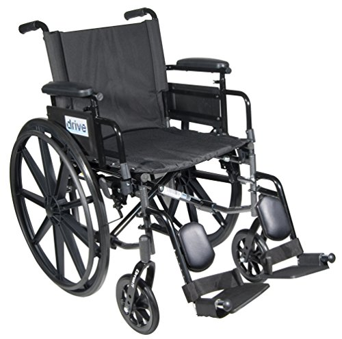 Drive Medical C418ADDASV-ELR Cirrus Iv Lightweight Dual Axle Wheelchair With Adjustable Arms, Silver Vein