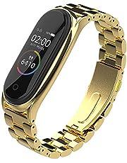 SUNEVEN Compatibel voor Xiaomi Mi Band 3/4, RVS Polsband Vervanging Smartwatch Polsbanden Vervanging Accessoires Bandjes Armbanden voor Xiaomi Mi 3/4 Horloge