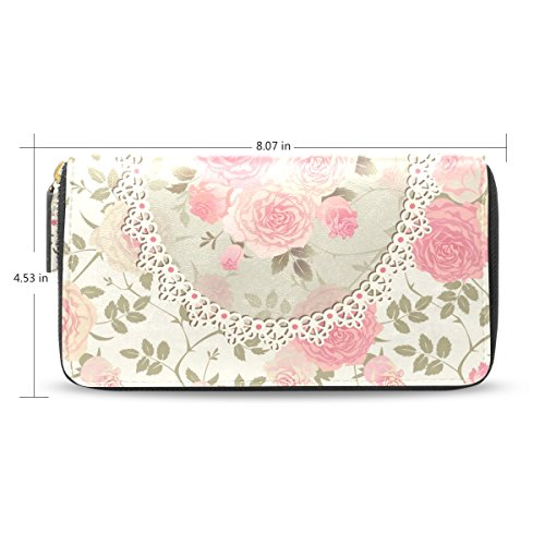 Price comparison product image Yochoice Women Lady Wallet, Shabby Chic Vintage Floral