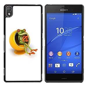 Be Good Phone Accessory // Dura Cáscara cubierta Protectora Caso Carcasa Funda de Protección para Sony Xperia Z3 D6603 / D6633 / D6643 / D6653 / D6616 // Yellow Furniture Thinker Fro