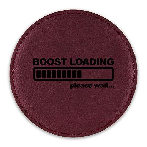 Boost Loading Drink Coaster Leatherette Round Coasters jdm kdm import turbo drift - Rose - One Coaster