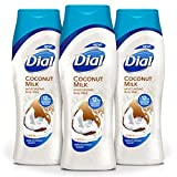 Dial Body Wash, Coconut Milk with Up to 12 Hour Moisture Release, 21 Fluid Ounces (Pack of 3)