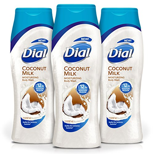 (Dial Body Wash, Coconut Milk with Up to 12 Hour Moisture Release, 21 Fluid Ounces (Pack of 3))