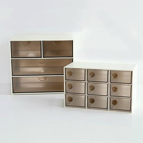 Amazon.com: Home Décor Plastic Make Up Jewelry Drawers Storage ...