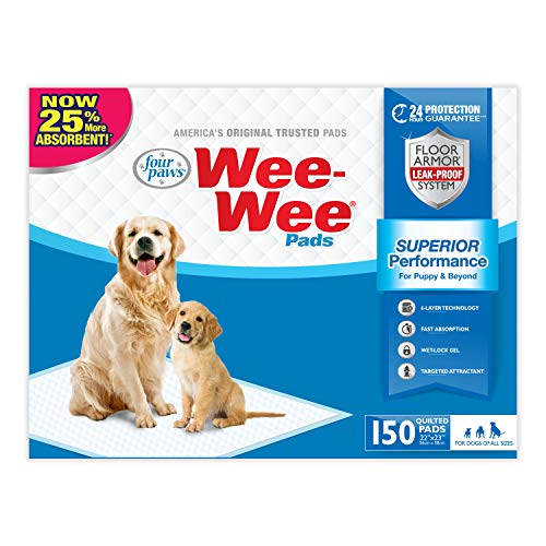 (Wee Wee Puppy Pee Pads for Dogs | 150 Count | Puppy Training Pads for Dogs | Standard Size Pads)