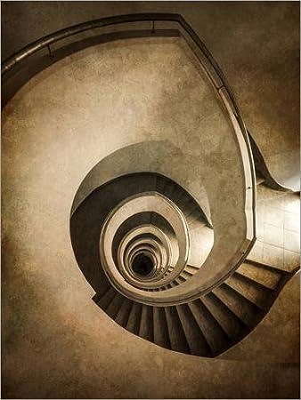 Posterlounge Cuadro de metacrilato 50 x 70 cm: Spiral Staircase in Brown Colors de Jaroslaw Blaminsky: Jaroslaw Blaminsky: Amazon.es: Hogar