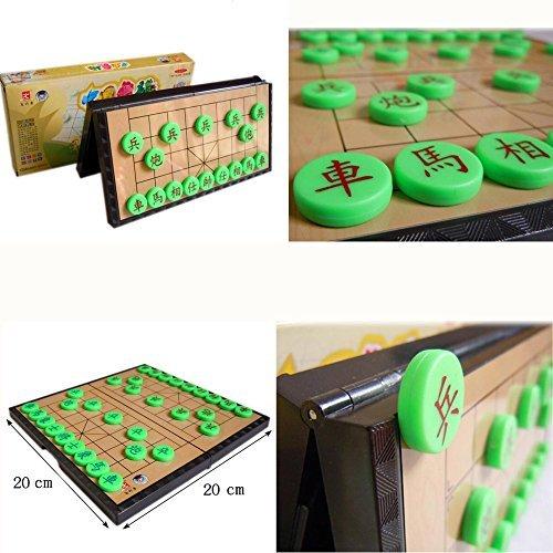 yb-osona中国象棋磁気中国のチェスチェスボードゲーム折りたたみ式ボード磁気旅行ゲームセット中国ピース、旅行チェスセット中国中国将棋セット20cm20cm