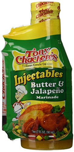 Butter Spicy Marinade (Tony Chachere Injectable Marinades with Injector, Butter and Jalapeno, 3 Count)