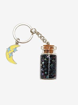 Amazon.com: Llavero de botella de corcho con purpurina: Clothing