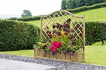 Trellis Wooden Planter Large Diamond Shape Variety Of Sizes