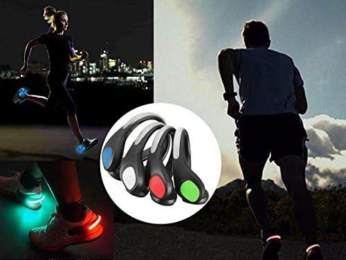 Clip pour chaussures lumineux /à LED chien promenant la nuit. cyclisme lampe clignotante anti-pluie pour course /à pied activit/és en plein air jogging