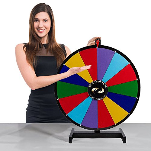 Tabletop Spinning Prize Wheel 14 Slots with Color Dry Erase (Dry Erase Prize Wheel)