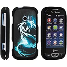 LG Extravert 2 Phone Case, Slim Hard Shell Snap On Case with Custom Images for LG Extravert 2 VN280 (Verizon) by MINITURTLE - White Dragon