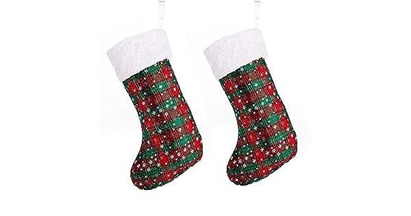 Amazon.com: WESEASON - Pack de 2 medias de Navidad con ...