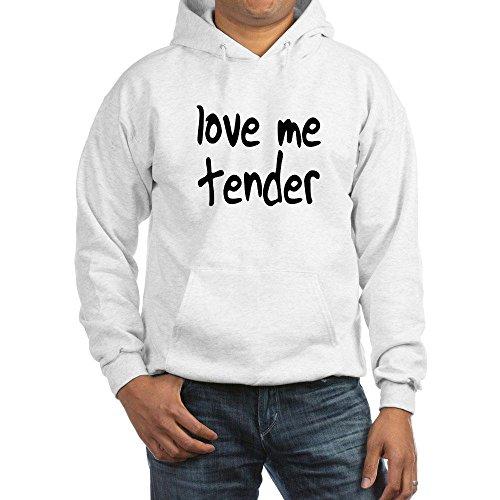 CafePress love me tender Hooded Sweatshirt - L White