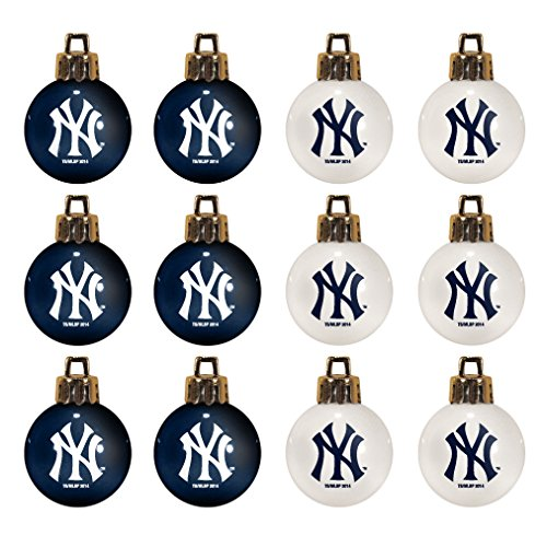 - MLB New York Yankees 12-Pack Mini Ornament Set