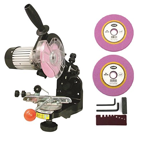 NEW Electric Chainsaw CHAIN GRINDER / SHARPENER w/ Grinding Wheels 1/8'' & 3/16'' by Tool Sets