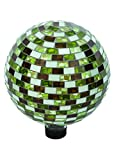 Russco III GD137173 Glass Gazing Ball, 10'', Mosaic Rectangle