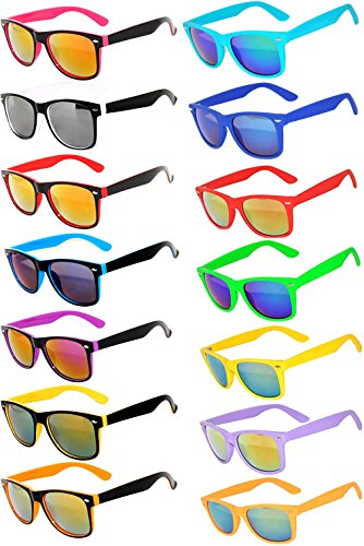 d9283a7fe7e Jual Retro Vintage Sunglasses Colorful Mirror Lens Matte Frame 3