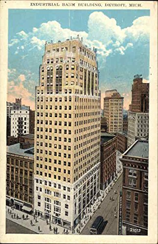 industrial-bank-building-detroit-michigan-original-vintage-postcard