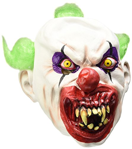 Zombie Clown Costume Uk (Smiffy's Sinister Clown Mask, White, One Size, 37203)