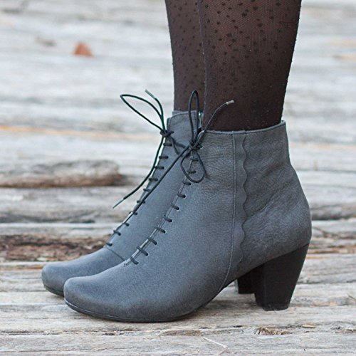 Black Women's Leather Boots by Bangi Shoes