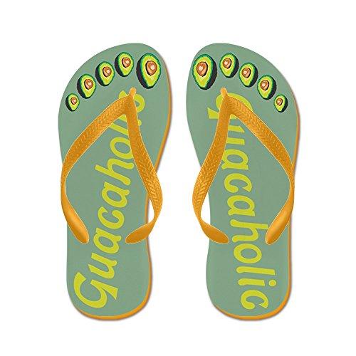 Cafepress Guacaholic - Flip Flops, Grappige String Sandalen, Strand Sandalen Oranje