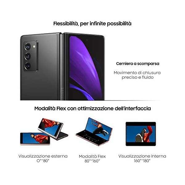 "Samsung Galaxy Z Fold2 5G Smartphone, Display ext.6.2"" Super AMOLED / int. 7.6"" Dynamic AMOLED 2x, 256GB, RAM 12GB… 6"